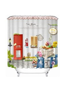 Lovely Cartoon Outdoor Scenery Print 3D Shower Curtain