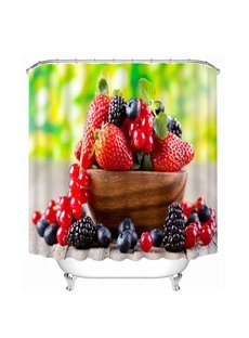 Delicious Fresh Fruits Print 3D Bathroom Shower Curtain