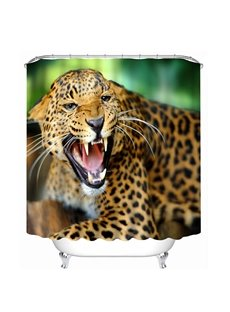 Leopard Howling Print 3D Bathroom Shower Curtain