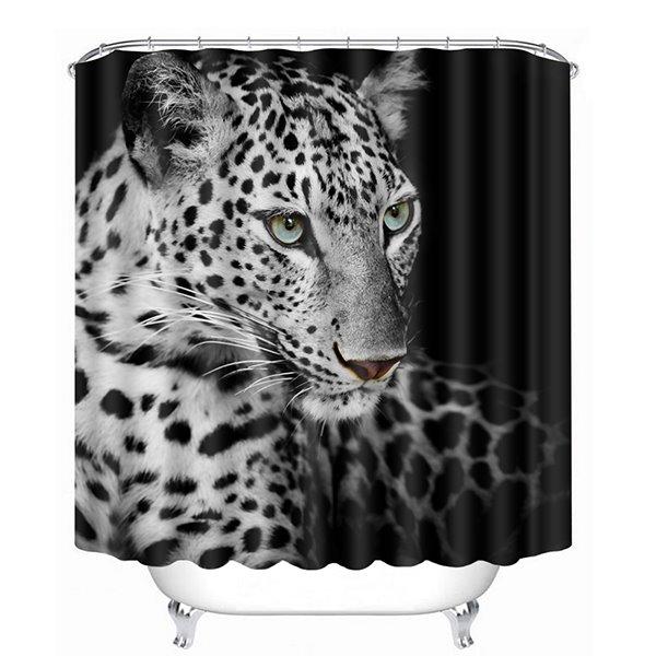 A Black and White Spots Cheetahs Print 3D Bathroom Shower Curtain