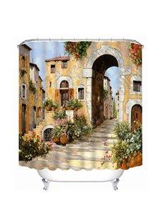 European Countryside Pathway Print 3D Bathroom Shower Curtain