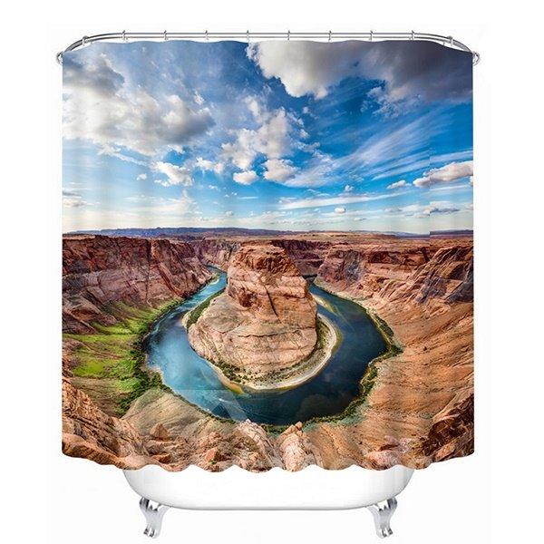 Amazing Nature Scenery Print 3D Bathroom Shower Curtain