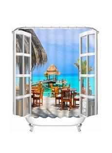 Beautiful Sea Print 3D Bathroom Shower Curtain