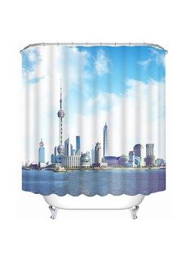 Shanghai Landscape in China Print 3D Bathroom Shower Curtain
