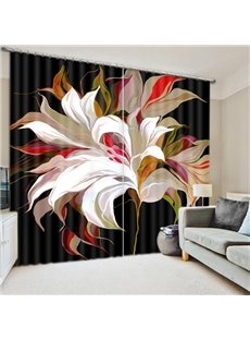 Creative Colored Flower Print 3D Blackout Curtain