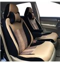 Popular Sport Style Ice Silk And Leather Material Universal Car Seat Cover