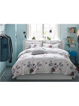 Fresh Style Splendid Flowers 4-Piece Active Print Cotton Bedding Sets