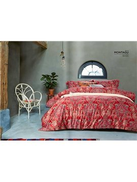 Pastoral Style Noble Leaves Active Printing 4 Piece Bedding Sets