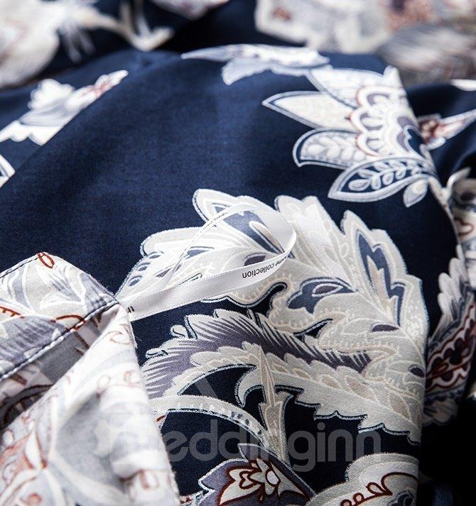 European Style Flower Pattern Cotton 4-Piece Duvet Cover Sets
