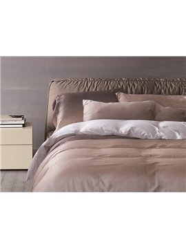 Fancy Gradient Effect Brown 4-Piece Cotton Duvet Cover Sets