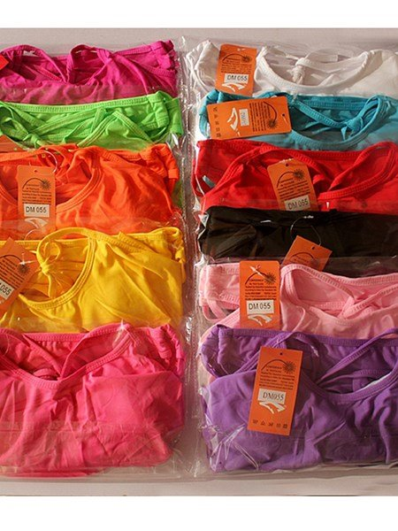 Solid Color Falbala Leather Braces Two-piece Bikini
