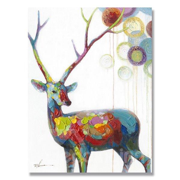 Hot Sale Warm Color Pop Art Deer Oil Painting