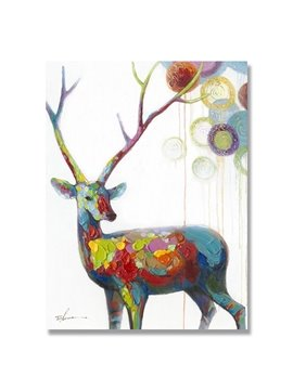 Hot Sale Warm Color Pop Art Deer Oil Painting