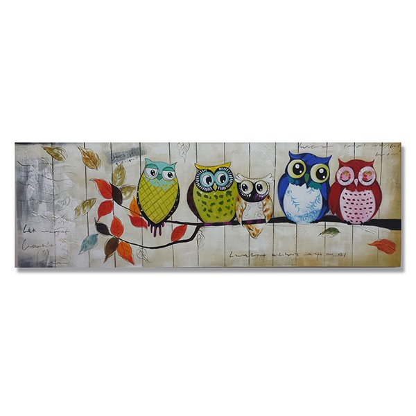 Amazing Hand Painted Owl Wall Art Prints
