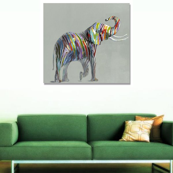 Oil Painting Elephant Hand Painted Wall Art Prints