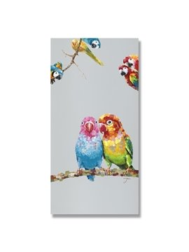 Oil Painting Colorful Birds Hand Painted Wall Art Parints