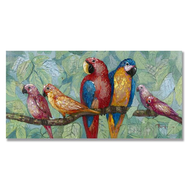 Hand Painted Birds Oil Painting Wall Art Prints