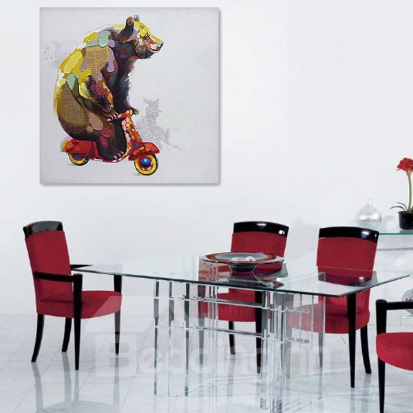 Oil Painting Modern Abstract Bear Hand Painted Wall Art Prints