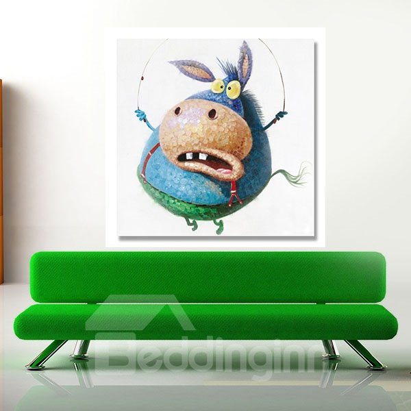 Creative Abstract Exaggerated Donkey Oil Painting