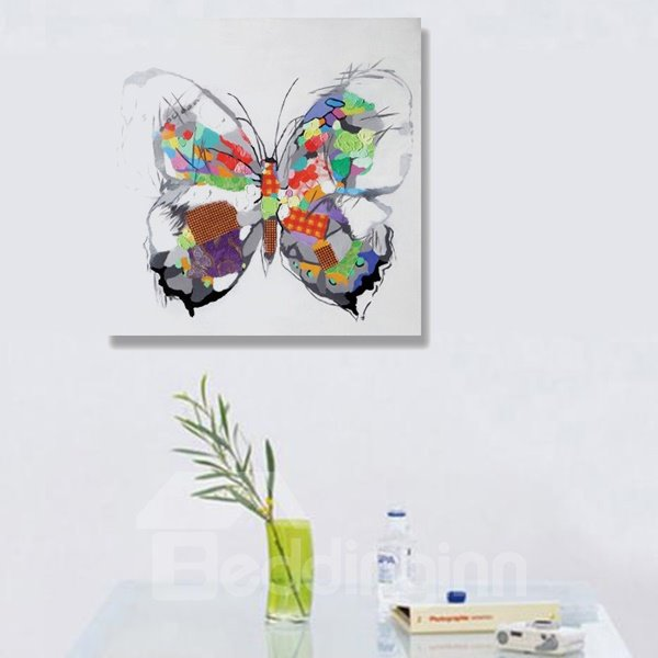 Multicolor Pop Art Beautiful Butterfly Oil Painting