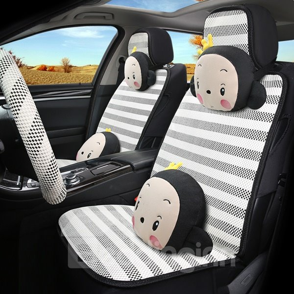 cute and funny cartoon monkey car seat cover. Black Bedroom Furniture Sets. Home Design Ideas