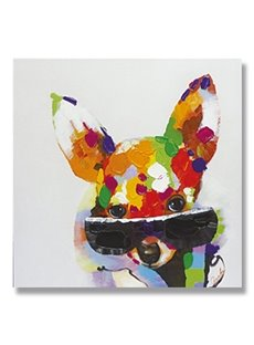 New Arrival Modern Pop Art Cool Dog Oil Painting