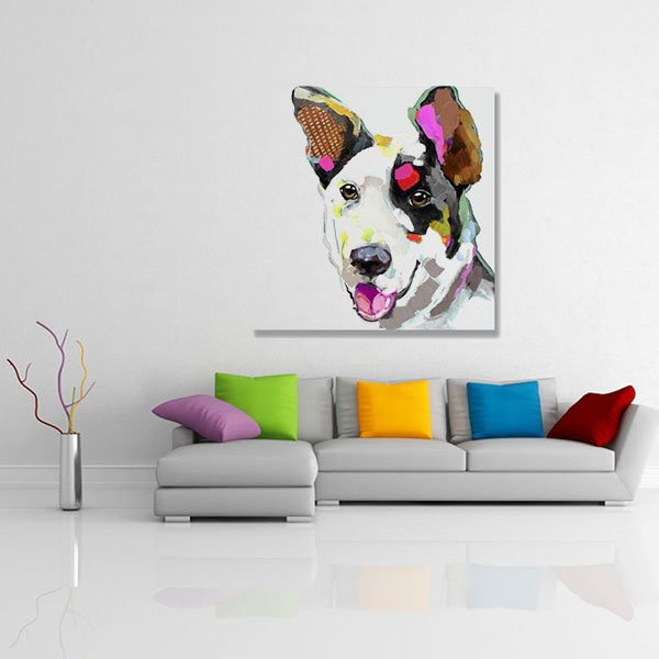 New Arrival Muticolor Pop Art Modern Dog Oil Painting