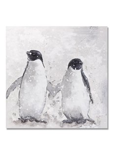 Simple Black Pop Art Animal Penguin Oil Painting
