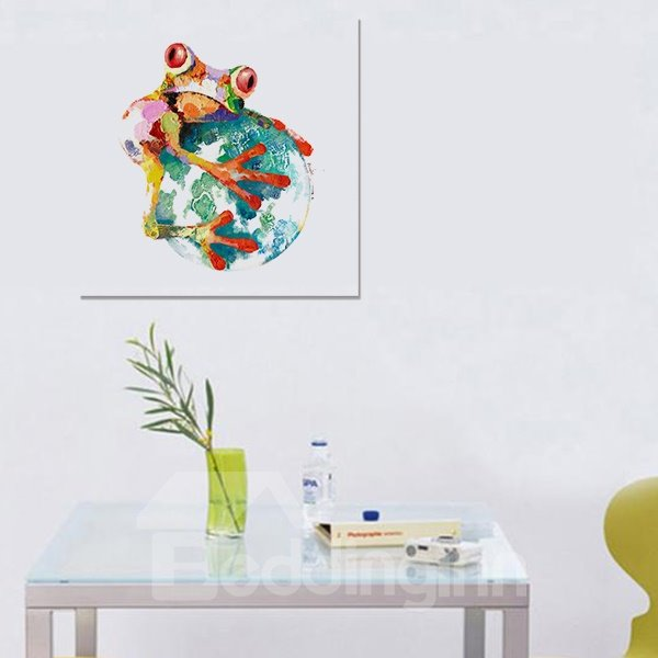 New Arrival Modern Abstract Frog and Ball Oil Painting