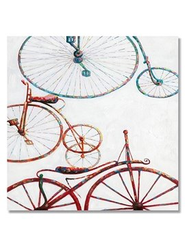New Arrival Pop Art Simple Bicycle Hand Painted Oil Painting