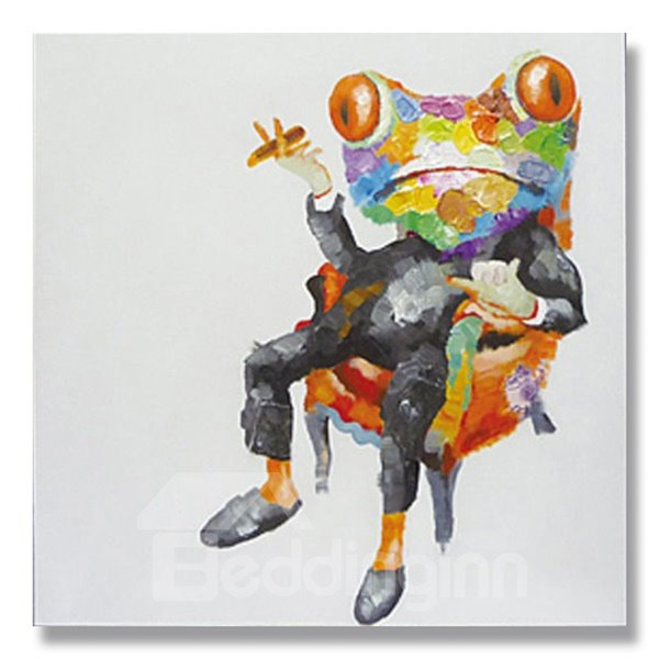 Modern Abstract Frog Hand Painted Oil Painting