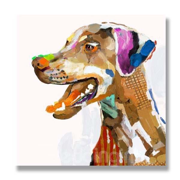New Arrival Pop Art Colorful Dog Oil Painting