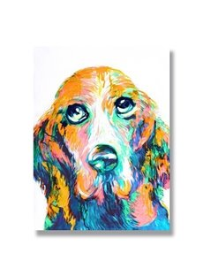 New Arrival Ready to Hang Pop Art Dog Oil Painting