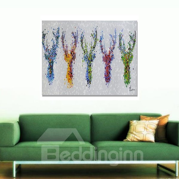 Hand Painted Modern Beautiful Flower Oil Painting