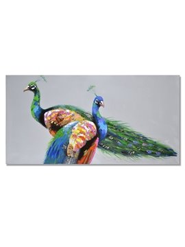 Beautiful Realism Peacock Oil Painting