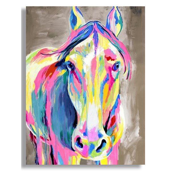 Amazing Hand Painted Horse Head Oil Painting