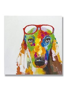 New Arrival Abstract Modern Dog Hand Painted Oil Painting