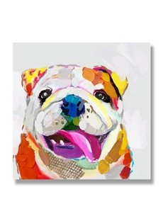 Modern Bulldog Hand Painted Oil Painting