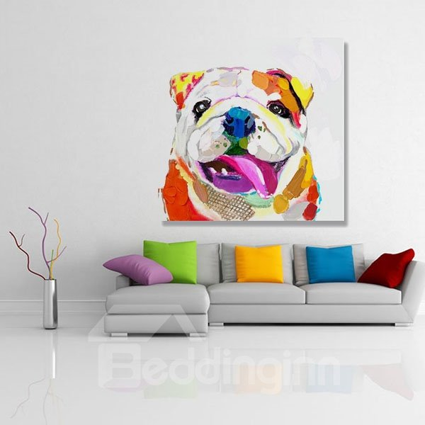 Modern Bulldog Hand Painted Oil Painting