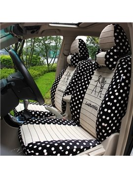 Beige And Black Mash High Quality Car Seat Cover