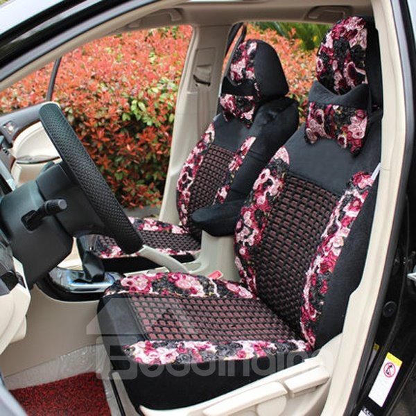 Princess Wind Style And Pink Colour Car Seat Cover