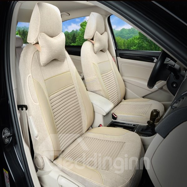 Ice Silk And Flax Material Car Seat Covers