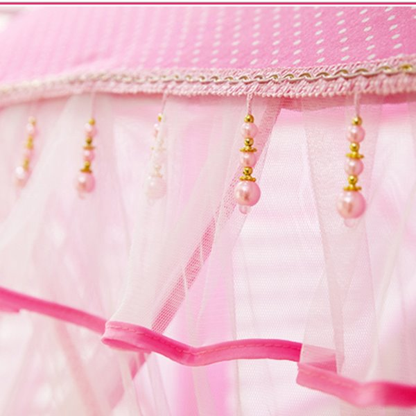Lovely Pink Lace Polka Dots Hex-angular Kids Indoor Tent