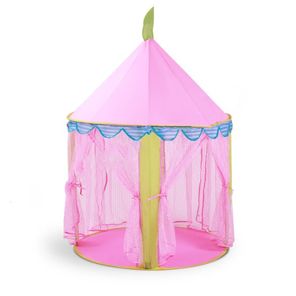 Pink Lovely Castle-like Polyester Pongee Hex-angular Kids Indoor Tent