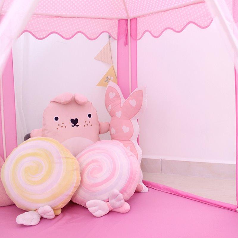 Lovely Pink Polka Dots Hex-angular Kids Indoor Tent
