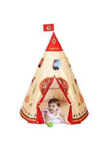 Egyptian Tribal Triangle Kids Non-woven Fabrics Indoor Tent