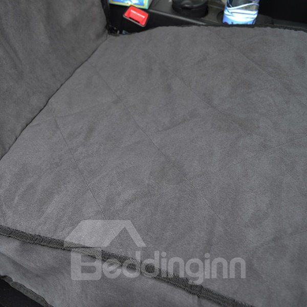 Suede Material And Dark Gray Color Pet Seat Mat