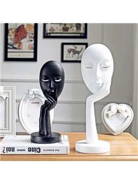 New Arrival Creative White and Black Face Desktop Decoration