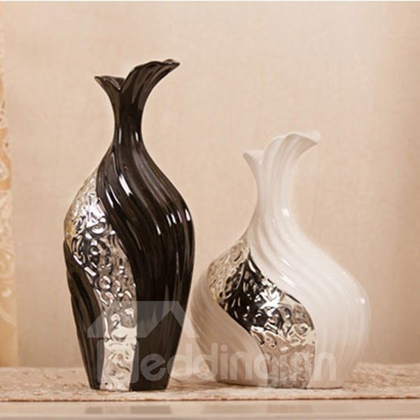New Arrival Beautiful Black and White Flower Vase