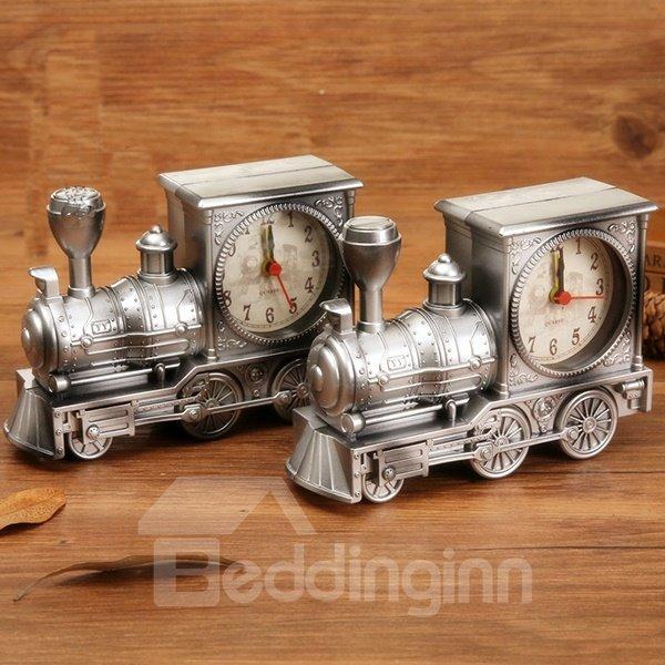 Classic European Style Train Alarm Clock Desktop Decoration
